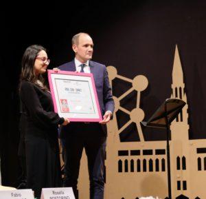 Rosella Postorino reçoit le Prix Jean Monnet, soutenu par le Département de la Charente, en 2019